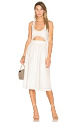 Edit Elasticated Cut Out Top Dress White