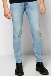 Boohoo Fit Acid Wash Jeans Blue