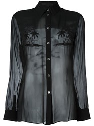 Alexander Wang Embroidered Palm Tree Shirt Black
