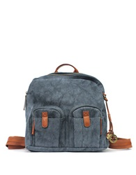 Lucky Brand Ashmore Canvas Backpack Midnight Blue