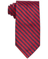 Brooks Brothers Bias Stripe Tie Red