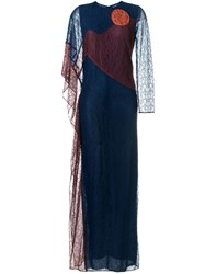 Tory Burch 'Cecilia' Caftan Dress Blue