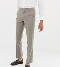 Heart And Dagger Slim Suit Trousers In Wool Stone