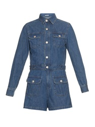 Alexa Chung For Ag The Loretta Denim Playsuit