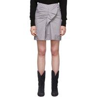 Etoile Isabel Marant Pink And Black Linen Ines Skirt