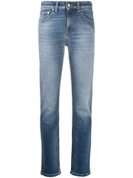 Pt05 Faded Slim Fit Jeans Blue