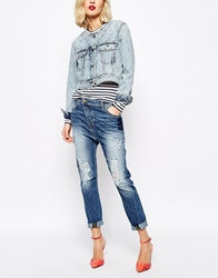 Vivienne Westwood Anglomania Jeans Boyfriend Jeans With All Over Distressing Blue