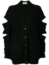 Christopher Kane Zip Cardigan Black