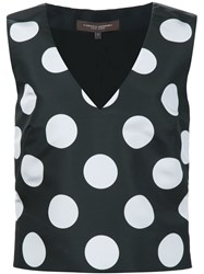 Carolina Herrera Polka Dot Tank Top Black