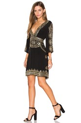 Tessora Short Caftan Dress Black