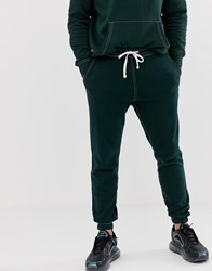 Pull And Bear Pullandbear Jogger With Contrast Stitch In Green