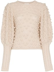 Zimmermann Bobbly Mohair Jumper Nude And Neutrals
