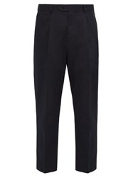 Hope Take Tailored Cotton Twill Trousers Dark Navy