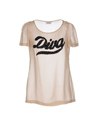 Moschino Cheap And Chic Moschino Cheapandchic Shirts Blouses Women Beige