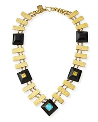 Ashley Pittman Pevu Necklace W Turquoise And Citrine Brown