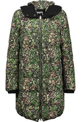 M Missoni Printed Shell Down Hooded Coat Multicolor