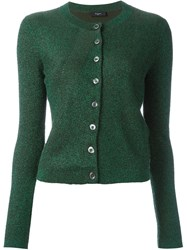Paul Smith Black Label Lurex Cardigan Green