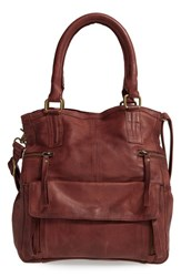 Day And Mood 'Hannah' Leather Satchel Brown