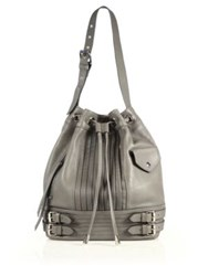 Linea Pelle Rowan Bucket Bag Smoke