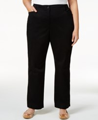 Karen Scott Plus Size Twill Pants Only At Macy's Deep Black