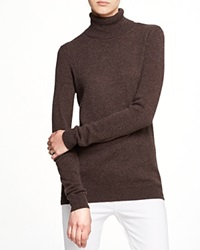 C By Bloomingdale's Turtleneck Cashmere Sweater Heather Brown