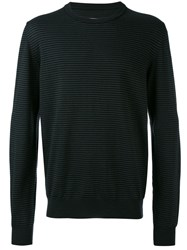 Maison Martin Margiela Ribbed Elbow Patch Sweater Men Wool Cotton Calf Leather S Black