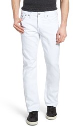 True Religion Men's Big And Tall Brand Jeans Ricky Relaxed Fit Jeans Optic White