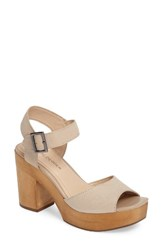 Kelsi Dagger Women's Brooklyn Front Platform Sandal Shell Leather