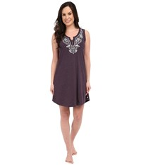 Lucky Brand Embroidered Chemise Dusty Fuchsia Women's Pajama Brown