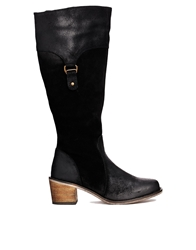 Ravel Mellow Leather Knee High Boots Black