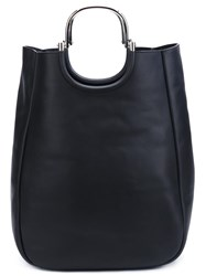 Derek Lam 10 Crosby Metallic Handle Tote Bag Black