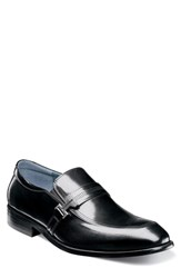 Stacy Adams Jonas Apron Toe Slip On Black Leather