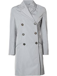 Brunello Cucinelli Button Up Trench Coat Grey
