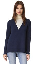 Timo Weiland Lauren V Turtleneck Navy White