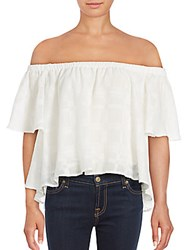 Finders Keepers Better Days Ruffled Off The Shoulder Top Cloud