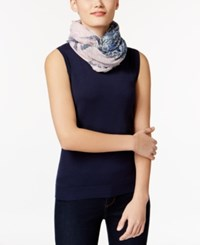 Inc International Concepts Patchwork Loop Scarf Only At Macy's Blue Multi