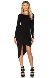 Indah Salju Long Sleeve Sexy Dress Black
