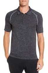 Sodo Men's Seamless Tech Polo Dark Charcoal Silver