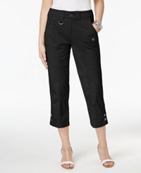 Style And Co Cargo Capri Pants Only At Macy's Deep Black
