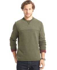 G.H. Bass And Co. Faux Suede Long Sleeve Fleece Crew Shirt Forest Night