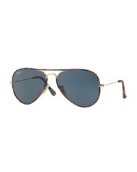 Original Aviator Sunglasses With Camouflage Brown Blue Ray Ban
