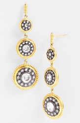 Women's Freida Rothman 'Hamptons' Nautical Button Drop Earrings Gold Gunmetal