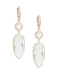 Saks Fifth Avenue Quartz Teardrop Drop Earrings Gold