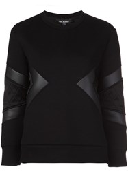 Neil Barrett Quilted Neoprene Sweatshirt Black