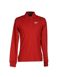 Jaggy Polo Shirts Red