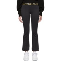 Versace Underwear Black Greek Key Lounge Pants
