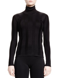 Balenciaga Ribbed Silk Turtleneck Sweater