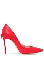 Casadei 100Mm Blade Leather Pumps Red