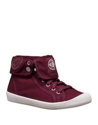 Palladium Flex Baggy Canvas Sneakers Wine