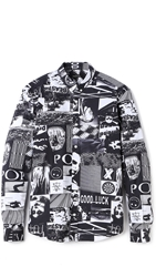 Surface To Air Button Down Shirt Black White